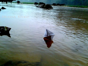 Playing with paper Boat – The recollection of childhood fun