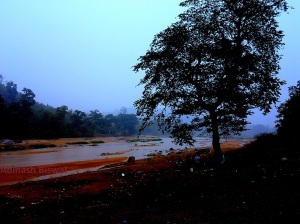 River Auranga in Dim light